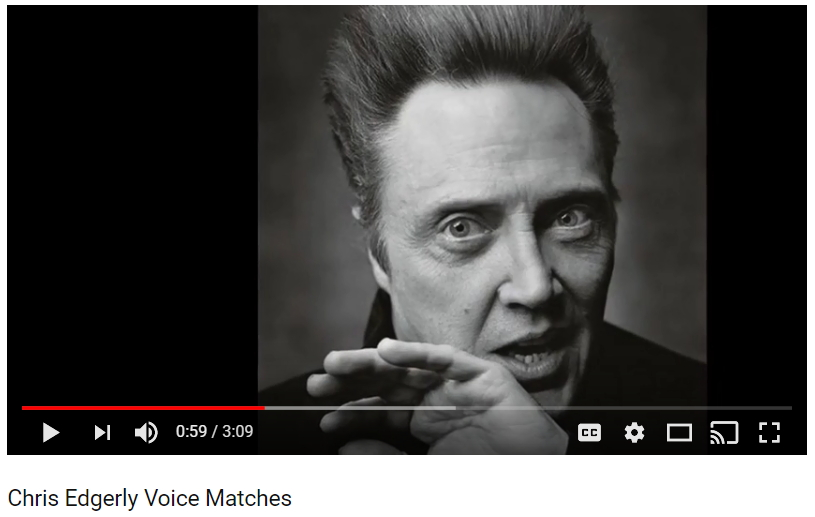 Voice Imitation: Chris Edgerly Voice Matching Compilation [Video]