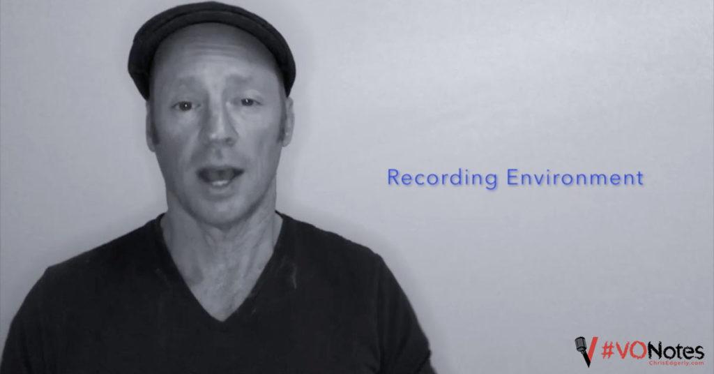 VO recording environment