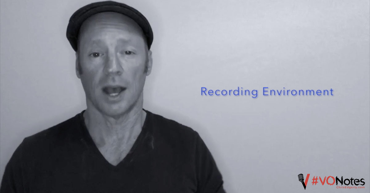 Voice Over Recording Environment: Creating the Optimal Recording Environment #VONotes