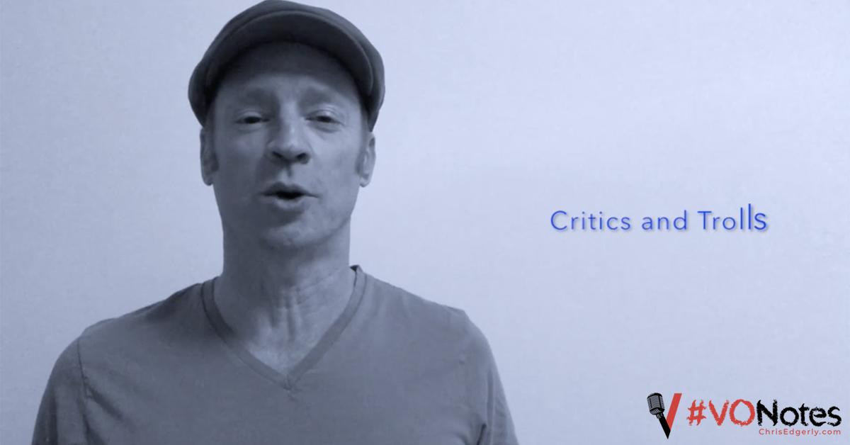 voice acting critics and trolls